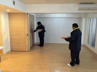 センター棟棟内モデル仮使用検査/札幌市役所
