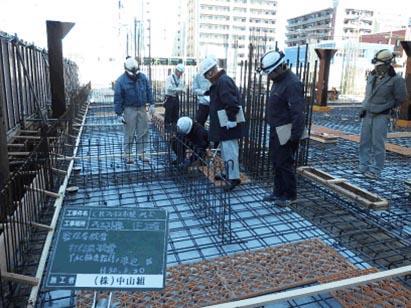 ウエスト棟 1F 2工区 スラブコンクリート打設前検査