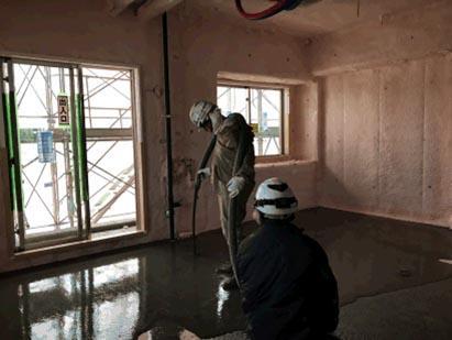 7階 専有部 セルフレベリング打設完了