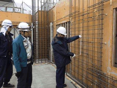 監理者検査 12階 壁配筋検査 TAC構造設計