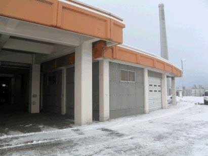 倉庫1外壁アスベスト除去完了状況 H29.12.23