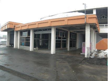倉庫1外壁・軒天アスベスト含有建材解体完了状況 H30.3.13