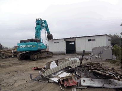 付帯建物(屋外倉庫)解体状況 H30.6.19