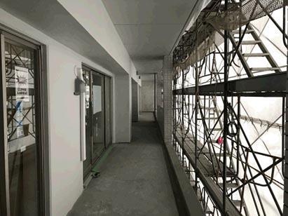 ウエスト棟4階バルコニー塗装完了状況 H31.1.31