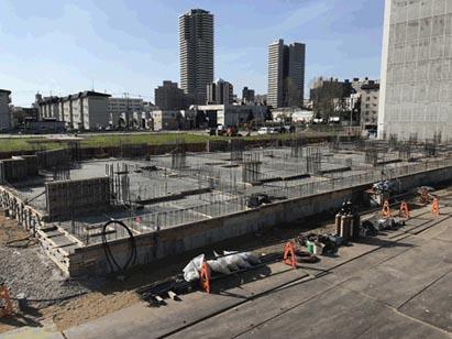 イースト棟1工区1F床コンクリート打設完了 R1.5.14
