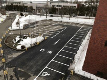 駐車場ライン引完了 H31.3.12
