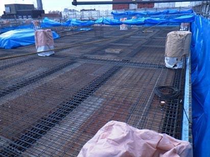 2F立上りコンクリート打設前状況