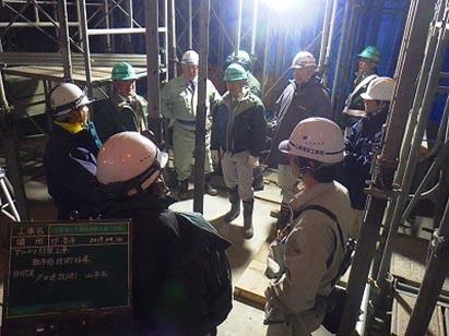 アルカリ対策工事 散布前技術指導 戸田建設㈱