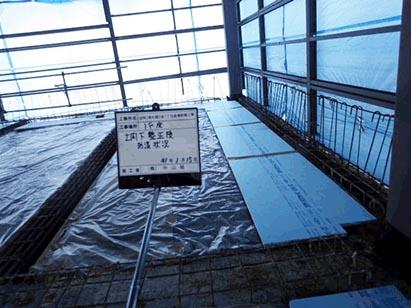 1階土間下防湿シート・断熱材敷状況 H31.1.15