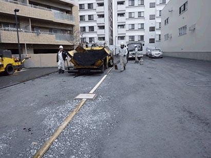 駐車場アスファルト舗装状況 H31.3.26