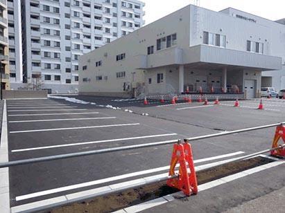 駐車場白線引き完了 H31.3.30