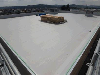 事務所棟 屋根塩ビシート断熱防水 完了 R1.7.31