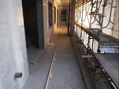 2階バルコニー断熱モルタル敷設完了状況 R1.10.18