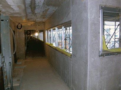2階AW取付完了・詰モルタル施工前状況 R1.10.25