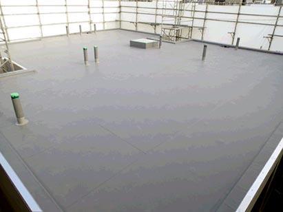 屋上防水施工完了 H2.2.7