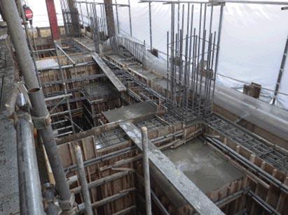 サウス棟2工区基礎CON打設完了