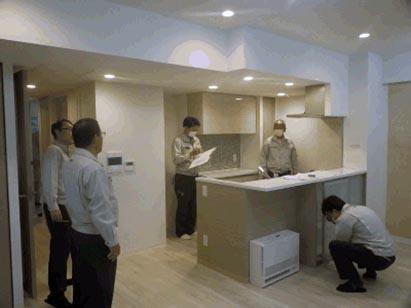 サウス棟モデルルーム社内検査